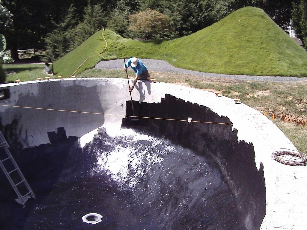 آب بندی استخرهای ساخته شده با استفاده از بتن