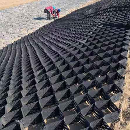 کاربرد ژئوسل در تسلیح خاک